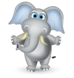 elephant cartoon posing vector image vector image