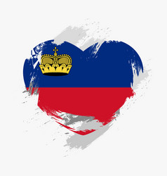 flag of liechtenstein vector image vector image
