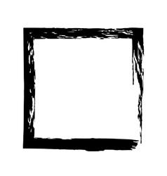 Frame square ink grunge background vector image
