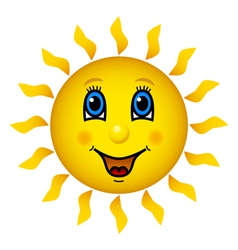 Happy smiling sun vector image vector image