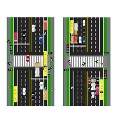 Highway planning roads streets and traffic vector