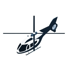 Isometric police helicopter vector image vector image