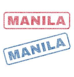 Manila textile stamps vector