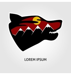 Pofessional wolf logo vector