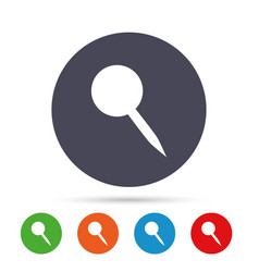 Pushpin sign icon pin button vector