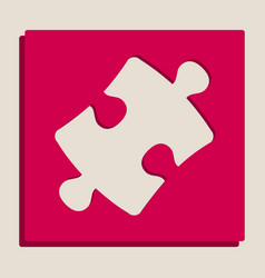 Puzzle piece sign grayscale version of vector