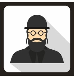 Rabbi icon in flat style vector