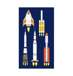Rocket icon isolated vector image vector image