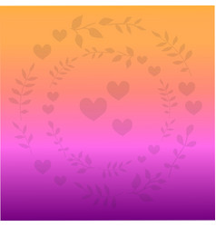 Romantic background with colorful gradient vector