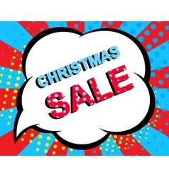 Sale poster with christmas sale text advertising vector