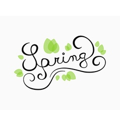 Spring calligraphy vector image
