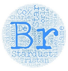 Stardust text background wordcloud concept vector