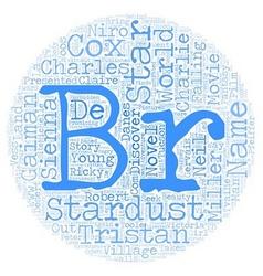 Stardust text background wordcloud concept vector image vector image
