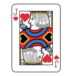 Stylized Jack of Hearts vector image