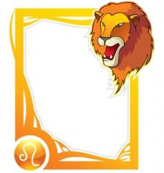 zodiac frame series leo vector image