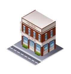 Color isometric building vector