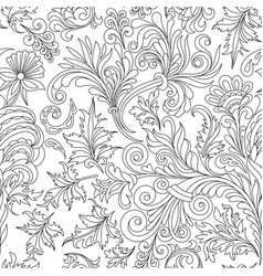 Decorative vintage flowers seamless pattern good vector