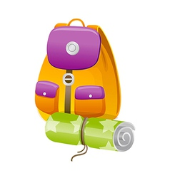Icon back pack vector