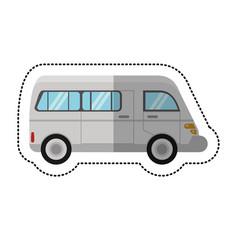 Van commercial transport vehicle shadow vector