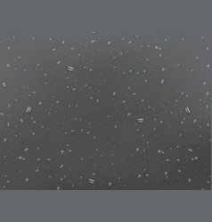Wet glass background drops on the window rain vector