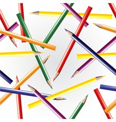 Color pencils seamless background vector image