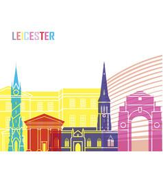 Leicester skyline pop vector