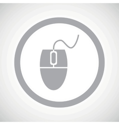 Grey mouse controller sign icon vector