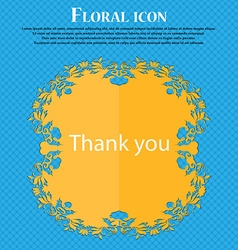 Thank you sign icon gratitude symbol floral flat vector