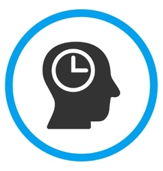 Time manager rounded icon vector