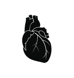 Human heart black icon vector