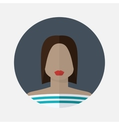 Female avatar in flat style vector
