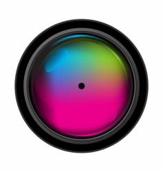 Digital camera lens vector