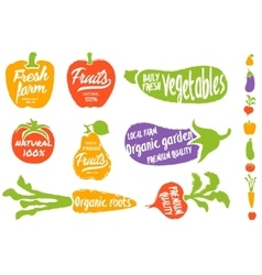 Healthy food vegetable background vector image