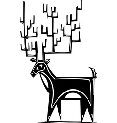 Antlers reindeer vector