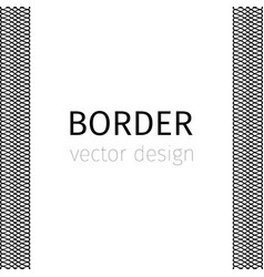 Black border with guilloches vector