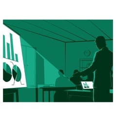 businessman presenting to his audiences vector image