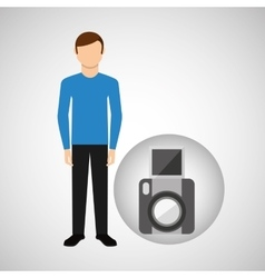 character man movie concept snapshot camera vector image