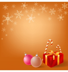 christmas gifts box vector image vector image