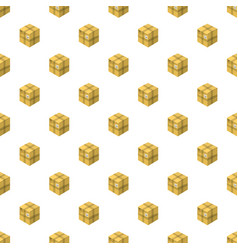 Closed cardboard box pattern vector