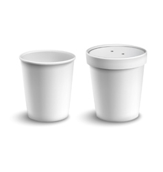 Coffee cup blank vector
