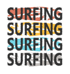 colorful surfboards with lettering surfing vector image vector image