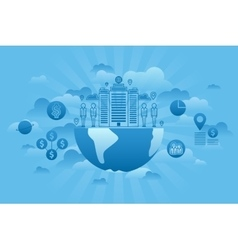 Global Company Concept blue vector image vector image