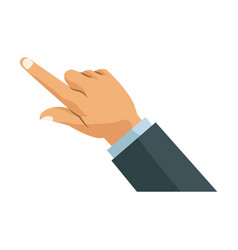 hand business man finger point gesture icon vector image