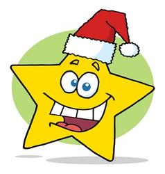 Happy Christmas Star Cartoon Character Smiling vector image vector image