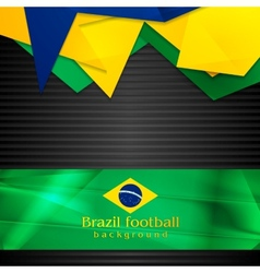 Hi-tech background with brazilian flag vector