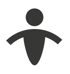 human figure silhouatte icon vector image