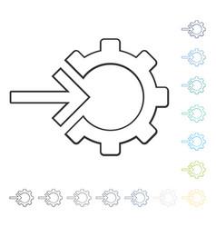 Integration arrow icon vector