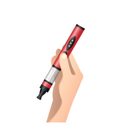 male hand holding e-cigarette vector image