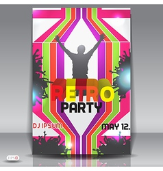 Retro party flyer vector image