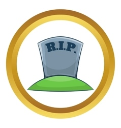 Rip on grave icon vector